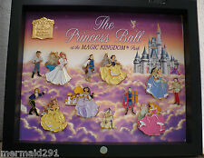 PRINCESS BALL COMPLETE SET OF PINS; ARIEL, BELL, JASMINE, SLEEPING BEAUTY, SNOW+