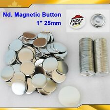 "100Sets 1"" 25mm Nd. Magnetic Badge Button  Maker Refrigerator Stiker HOT SALE"