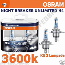 Lampadine OSRAM H4 NIGHT BREAKER UNLIMITED +110% Luce Fiat Punto Evo