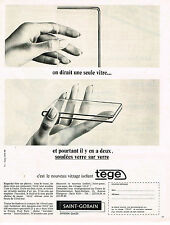 PUBLICITE ADVERTISING 015  1965  SAINT-GOBAIN  vitrage isolant   TEGE