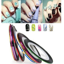 30 Rouleaux Nail Art Striping Tape Ongle Fil Bande Autocollant Sticker Tips Line