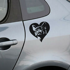 Lovely French Bulldog Car Stickers Heart Vinyl Car Body Decal Bumper Sticker