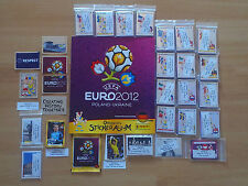 Panini euro 2012 conjunto de sticker completamente y álbum, complete set and empty álbum