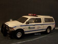 NYPD POLICE MOUNTED DODGE RAM COLLECTIBLE DIORAMA MODEL 1/64 SCALE