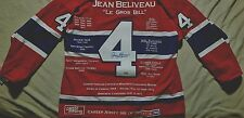 Jean Beliveau Limited Edition signed Career jersey