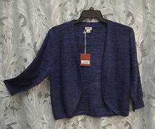 100% COTTON OPEN FRONT CROCHET KNIT CARDIGAN JACKET SWEATER SHRUG TOP~2X~1X~NW