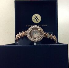 NEW!   Adrienne Vittadini Watch Rose Gold Colour w/Swarovski Crystals