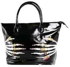 Iron Fist Large Black Death Groper Tote Handbag (Goth,Punk)