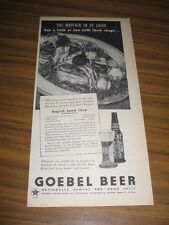 1945 Print Ad Goebel Beer English Lamb Chop Recipe