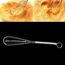 Kitchen 5'' Stainless steel Handle Whisk Mixer Balloon Wire Egg Beater Tools
