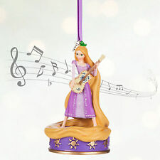 Rapunzel and Pascal Singing Disney Sketchbook Ornament NWT Tangled