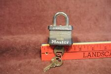 Master Comercial Lock with the keys