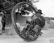 Historic Photo of Goventosa One Wheel Motorcycle Year 1935  8x10