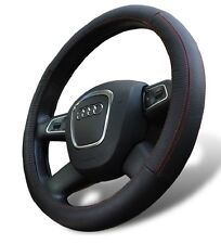 Genuine Leather Steering Wheel Cover for Toyota Universal Fit black 1