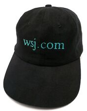 Vintage WALL STREET JOURNAL wsj.com - black adjustable cap / hat