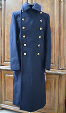 Ralph Lauren RRL Double RL Men's Navy Military Wool Long Coat Pea Coat Jacket M