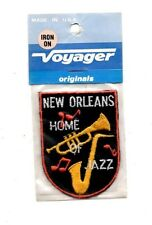 New Orleans Jazz Home Voyager Travel Souvenir Patch - Brand New - Free Shipping!