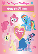 Personalised My Little Pony Birthday Card Daughter Granddaughter, Sister