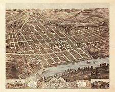 MAP ANTIQUE 1871 RUGER KNOXVILLE TENNESSEE AERIAL REPLICA POSTER PRINT PAM1901