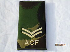 Rangschlaufen:  Corporal, ACF,DPM, Army Cadet Force