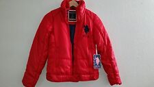 NWT U.S POLO ASSN. RED PUFF HOODED ZIP JACKET COAT Sz S
