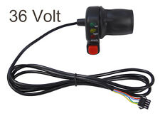 36V Electric Bicycle Half Twist Throttle w/ E-Bike Battery Capacity LEDs 1720mm