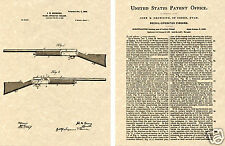 John BROWNING AUTO 5 SHOTGUN US PATENT Art Print READY TO FRAME!!!!! 1899 A5 A-5