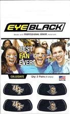 UNIVERSITY OF CENTRAL FLORIDA KNIGHTS UCF FANS BLACK EYE PATCH STICKER 2 PAIR