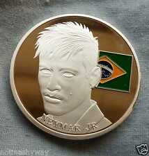 Neymar Junior Silver Coin Brazil World Cup 2014 Barcelona Man New York City U