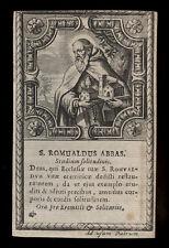 santino incisione 1600 S.ROMUALDO AB. DI CAMALDOLI