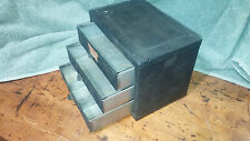Vintage Industrial Small Parts 3 Drawer Organizer Cabinet