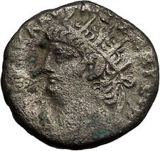 NERO 67AD Alexandria Egypt BIG Silver Authentic Ancient Roman Coin HERA i56041