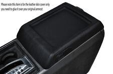 Black stitch console centrale couvercle cuir peau couvrir fits HUMMER H2 03-07
