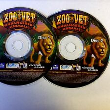 ZOO VET ENDANGERED ANIMALS (PC GAME) (DISCS ONLY) 3540