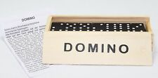 Dominoes Domino Wooden Box 28 Tiles Portable Family Game Great Gift US Seller