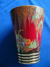 Carlton Ware Rouge Royale Hand Painted Stork/Crane Pattern Vase - 1940s