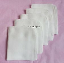 5 X MUSLIN Microfiber CLOTHS Facial cleanser 100% COTTON / super soft Face Cloth