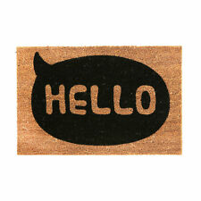Naturale di cocco Hello Welcome Antiscivolo ENTRANCE MAT Indoor Outdoor Pavimento Zerbino