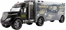WolVol Military Transport Car Carrier Truck Toy for Kids (includes 6 army car...