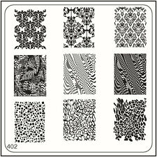MoYou Nails Square Stamping Image Plate 402