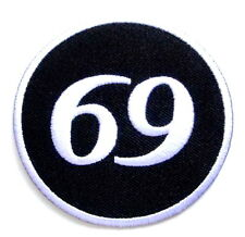 Sixty Nine 69 Motorbike Biker Iron On Embroidered Shirt Bag Jeans Badge Patch