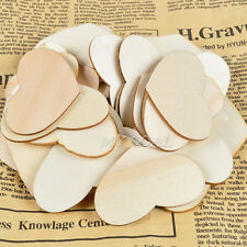50x Wooden Wood Love Heart Pieces Painting DIY Craft Cardmaking Scrapbooking 5cm