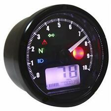 Cafe Racer, Digital Speedometer Speedo SPEED,  RPM, FUEL, Warning Lights, KOSO