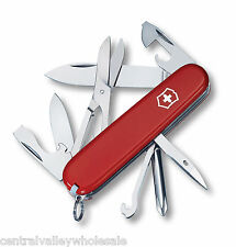 New Victorinox Swiss Army Knife SUPER TINKER Red 91mm 14 Features 53341