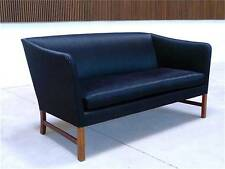 Mid-Century OLE WANSCHER Two-Seater Sofa Danish SETTEE Couch A.J. IVERSEN 1960s