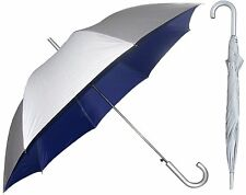 Silver Sunblock Umbrella with Navy Blue Lining - UV Protection Umbrella (032)