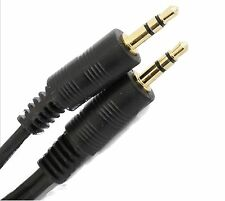 15m 3.5mm TRS Jack to Jack Audio Lead GOLD Stereo Aux Cable PC HEADPHONES MP3