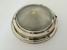 Roof light 12V Stainless Steel 140MM Base Chandlery/Canal Boat/Narrow Boat