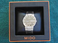 MIDO OCEAN STAR COMMANDER DATODAY DEPLOYMENT BRACELET STAINLESS SS STEALTH WATCH