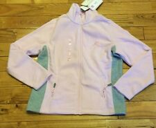 NWT Womens LEcare Breast Cancer  Pink Grey Fleece Jacket Coat Size Small S $68